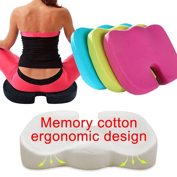 Meditation Comfort Cushion - Memory Foam Cushion for Tailbone Pain