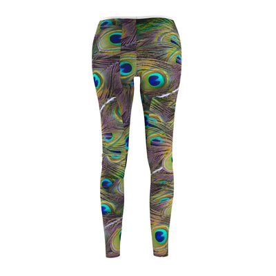 Peacock Feather Yoga Pants