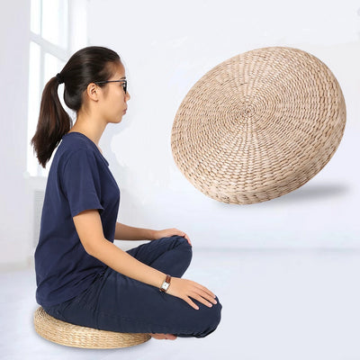 Authentic Japanese Tatami Meditation Cushion - Made From Natural Igusa Plant Fiber