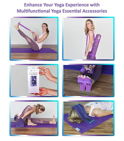 Organic 4-in-1 Naturally Odorless Sustainable Jute Yoga Essentials Kit - Super-Deal