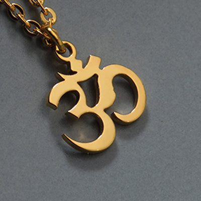 Om Necklace Gold/Rose Gold/Platinum Plated
