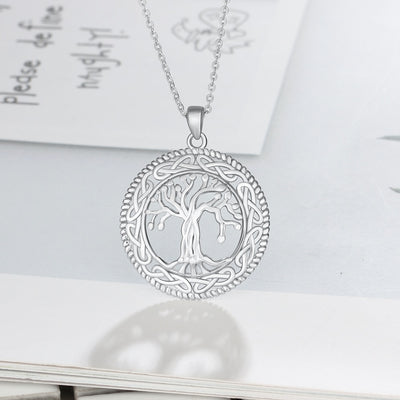 Vintage 925 Sterling Silver Tree of Life Necklace