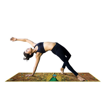 Peacock Power - Non-Slip Thick & Soft Yoga mat