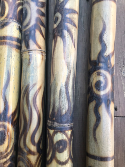 Handmade Bamboo Didgeridoo              Wood-Burn Design
