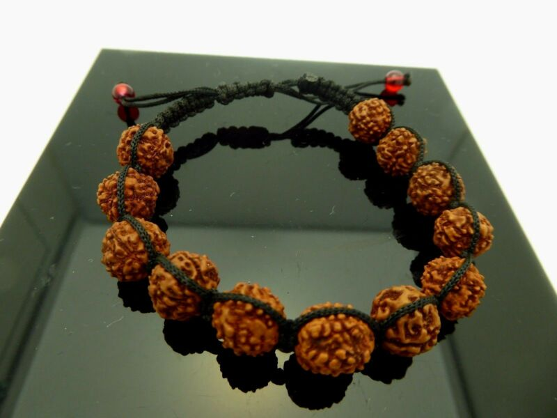 Adjustable Authentic Rudraksha Wrist Mala