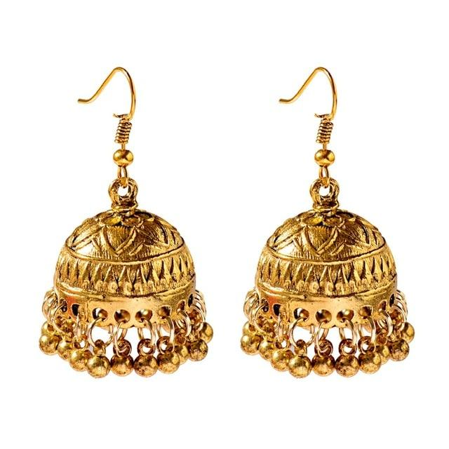 Classic Indian Bell Dangle Earring