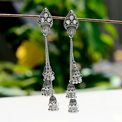 Boho Vintage Indian Tassel Drop Earrings - Thin & Elegant