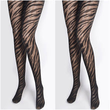 Load image into Gallery viewer, Zebra Print Tights