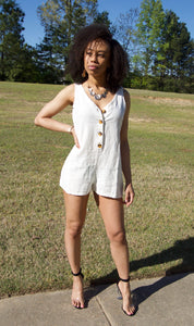 Just Chill Romper (White)