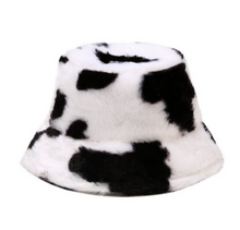 Load image into Gallery viewer, Bucket Hat - Cow Plush Print