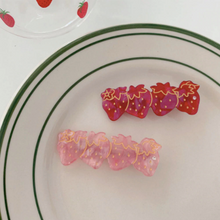 Load image into Gallery viewer, Strawberry Hair Clips - Set of 2