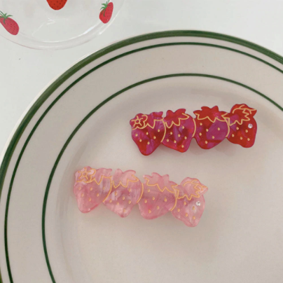 Strawberry Hair Clips - Set of 2