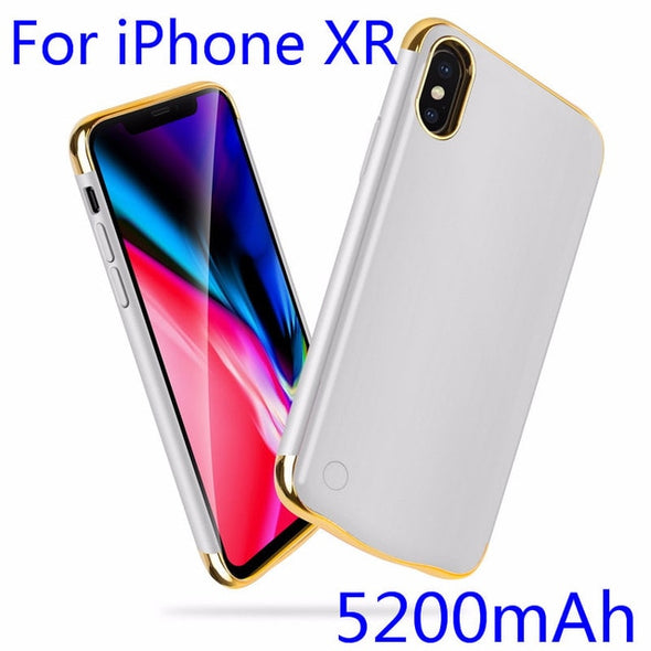 Shockproof Battery Charger Case For iPhone XR XS Max