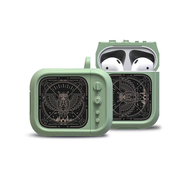 Cartoon owl Small television Pods Bag