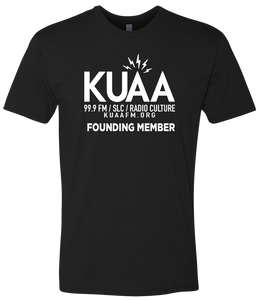Donate $60 and receive this KUAA Founding Member T-Shirt