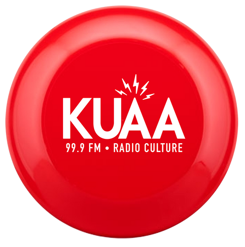 Donate $30 and receive this Awesome KUAA Frisbee