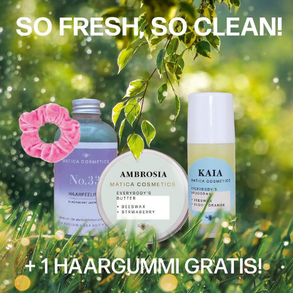 Sale Week Set So Fresh, So Clean Haarpeeling No.33 Körperbutter AMBROSIA Deodorant KAIA