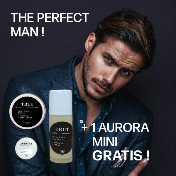 Sale Week Set The Perfect Man Matica Cosmetics TRUT Balsam, Deoroller und Aurora Körperbutter
