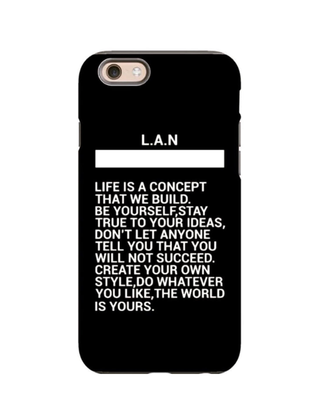 COQUE iPhone 7/8 LIFE IS A CONCEPT BLACK