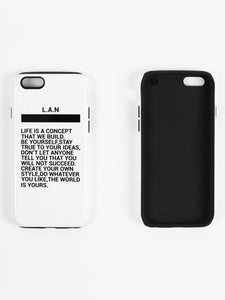 COQUE iPhone 7/8 LIFE IS A CONCEPT WHITE