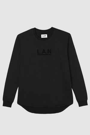 CURVED LOGO SWEAT