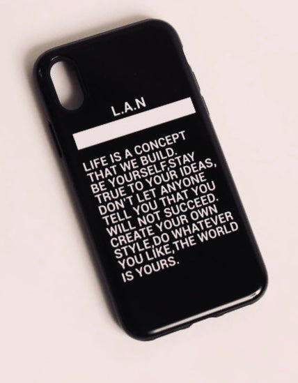 COQUE iPhone X/XS LIFE IS A CONCEPT BLACK
