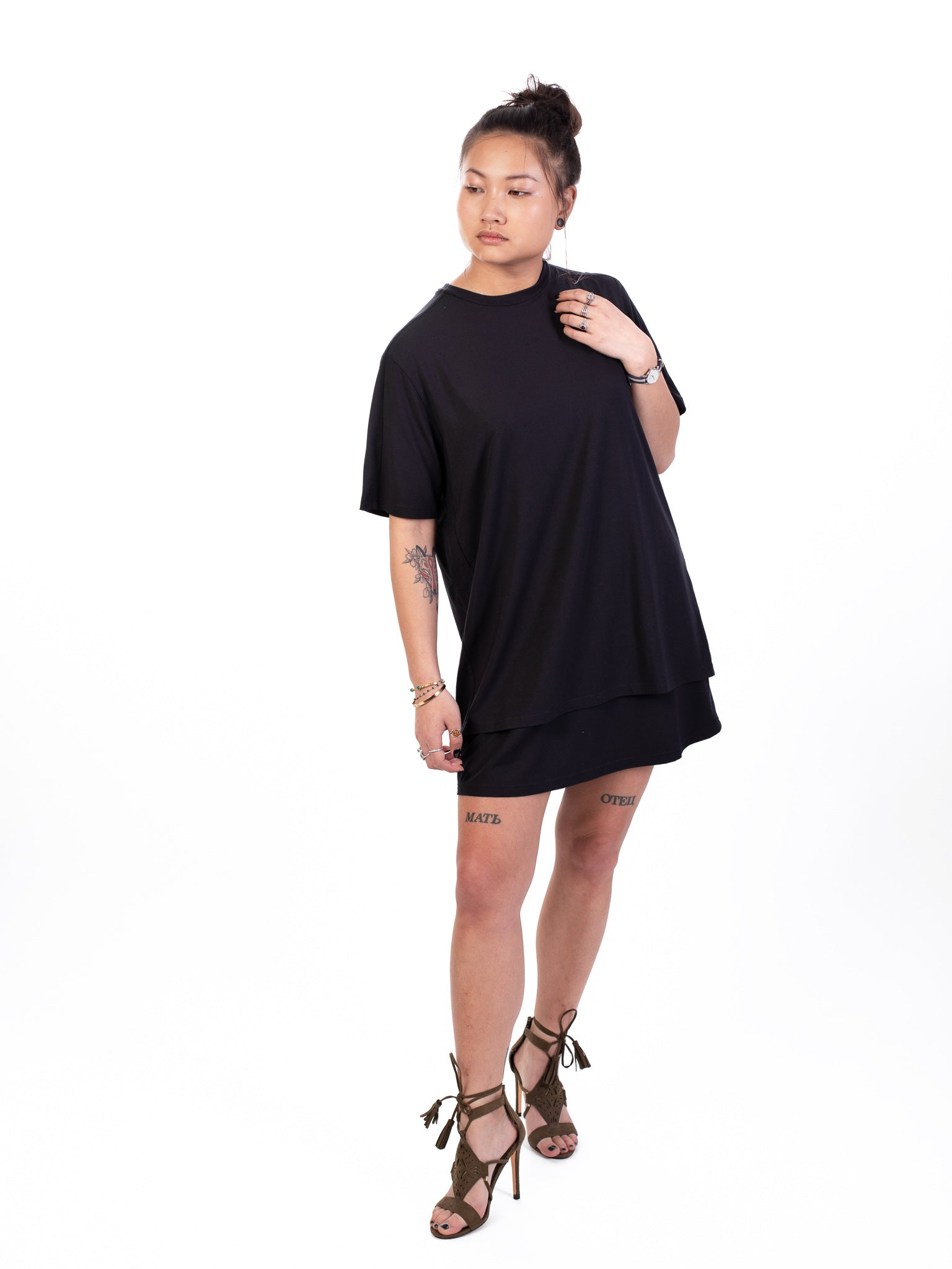 LAYERED TEE DRESS