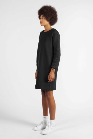 'LIFE IS A CONCEPT' SWEATER DRESS