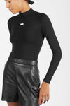 LONG SLEEVES MINIMAL BLACK BODYSUIT