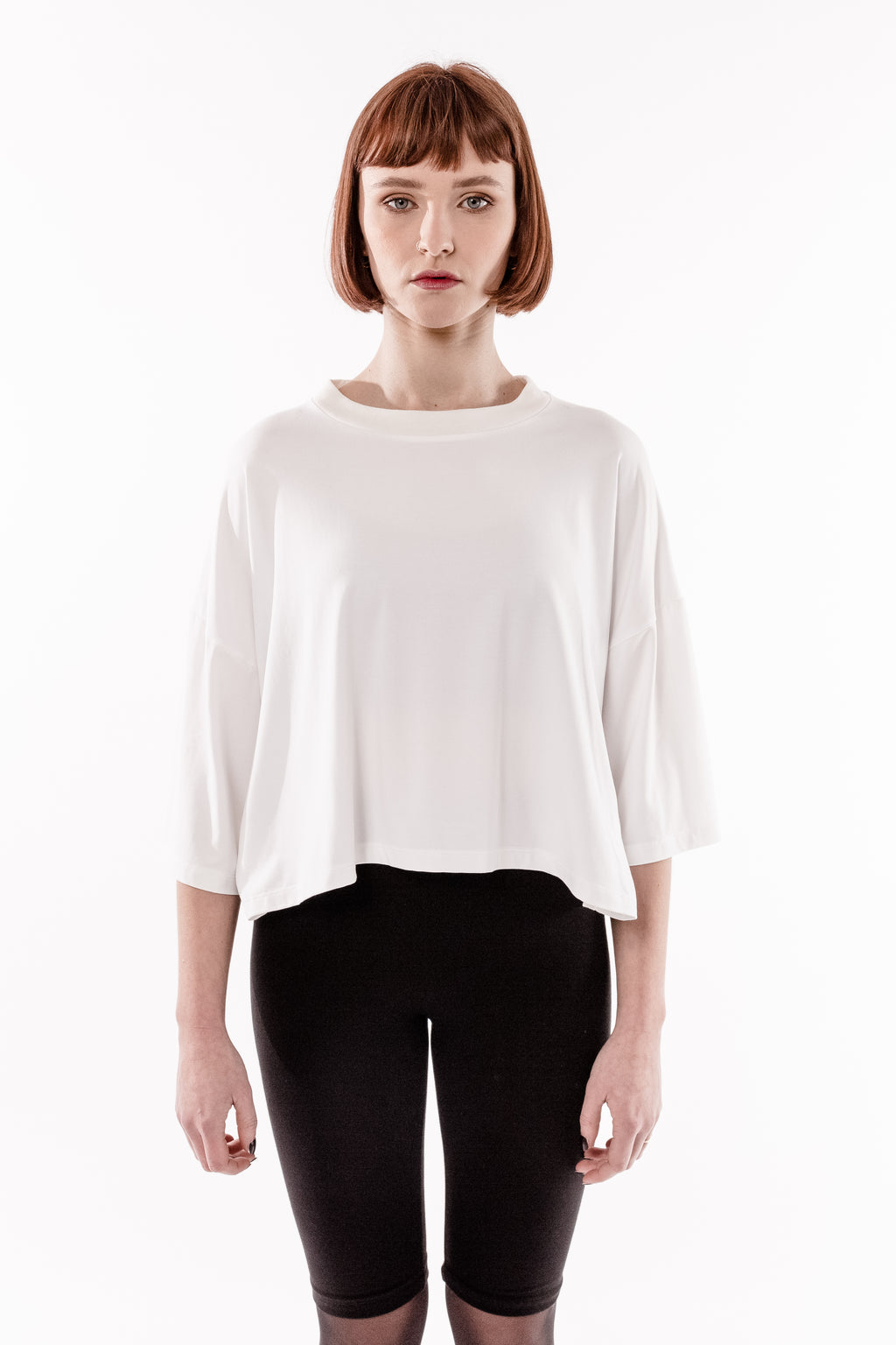 WHITE 'LIFE IS A CONCEPT' CROPPED TOP