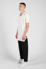 SQUARE NECK WHITE TEE-SHIRT