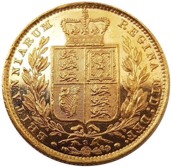 Queen Victoria Shield Reverse Sovereigns 1838-1887