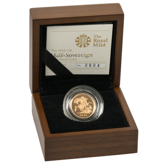 Queen Elizabeth II Proof Half Sovereigns