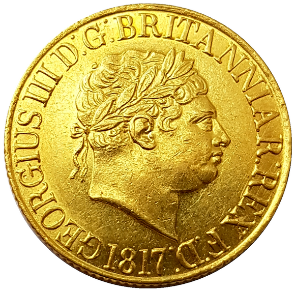 1817 George III Gold Full Sovereign - STUNNING - MS GRADE