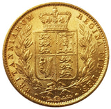 1857 Queen Victoria Shield Reverse Sovereign