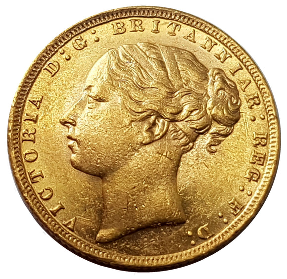 1872 Queen Victoria Young Head Gold Sovereign (London)