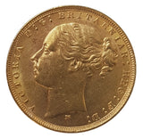 1879 Queen Victoria Young Head Gold Sovereign (Melbourne)