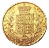 1881-S Queen Victoria Shield Reverse Sovereign - SYDNEY