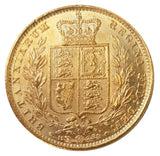 1882-S Queen Victoria Shield Reverse Sovereign - SYDNEY