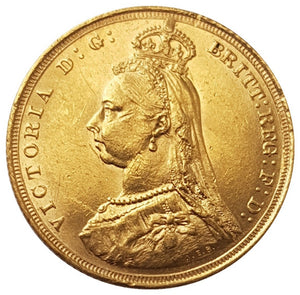 1888-S Queen Victoria Jubilee Head Gold Sovereign (Sydney) RARE 1st Bust - DISH S9