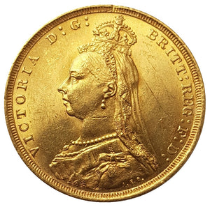 1888-S Queen Victoria Jubilee Head Gold Sovereign (Sydney) - DISH S10