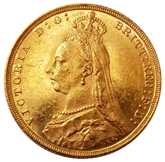 1893-M Queen Victoria Jubilee Head Gold Sovereign (Melbourne)