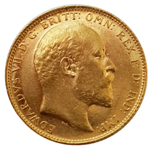 1902 King Edward VII Gold Sovereign (London) AUNC