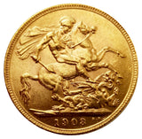 1903 King Edward VII Gold Sovereign (London) AUNC