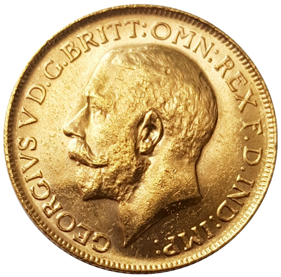 1916-P King George V Gold Sovereign (Perth)