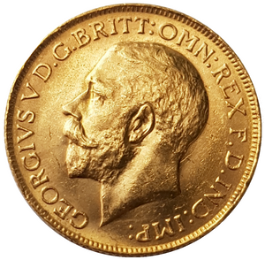 1923-M King George V Gold Sovereign (Melbourne)