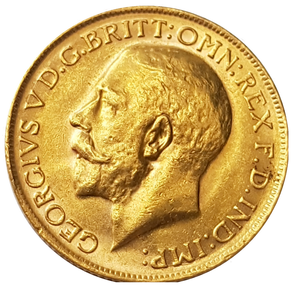 1925-P King George V Gold Sovereign (Perth)