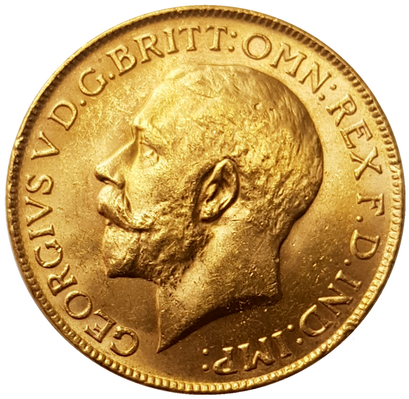 1927-P King George V Gold Sovereign (Perth)