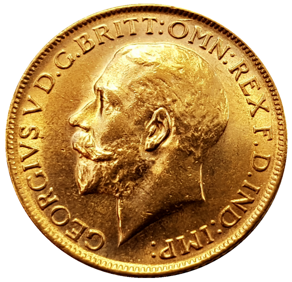 1928-M King George V Gold Sovereign (Melbourne) Very Rare