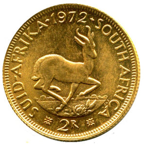 South African 2 Rand .916 Fineness 0.235 oz Gold